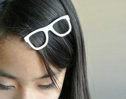 3D print model Glasses shaped hair clip