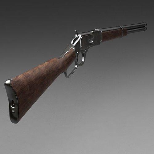 winchester carbine rifle 1873 3d model max obj mtl 1