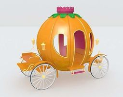 3d model pumpkin cart