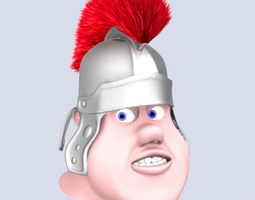 3D Roman soldier head