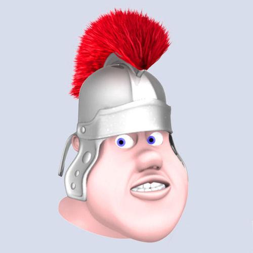 Roman soldier head3D model