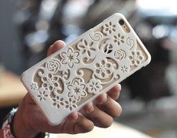 flora iphone 6 plus case 3d print model