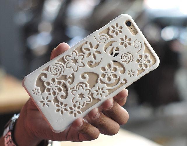 flora iphone 6 plus case 3d model stl 1
