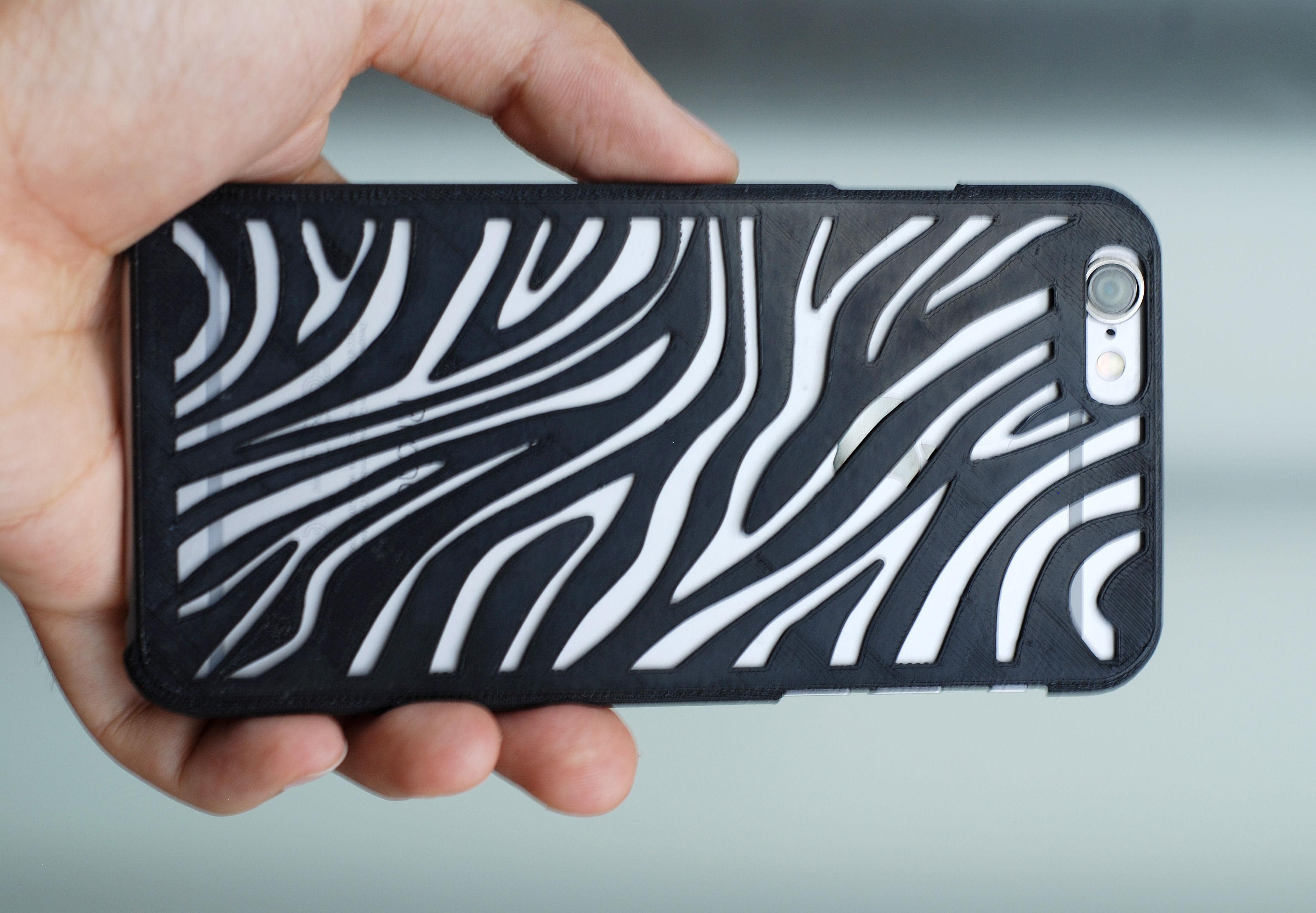 best loved cf086 d97c1 Iphone 6 Case Zebra   3D Print Model