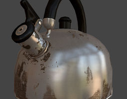 Teapot 3D model VR / AR ready rusted