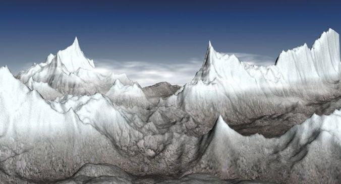 Mountains 23D model