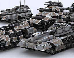 Sci-Fi Tanks collection 3D Model