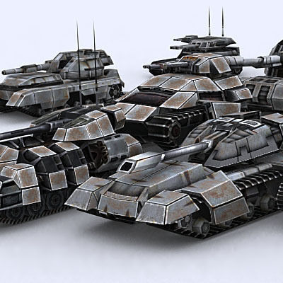 Sci-Fi Tanks collection3D model