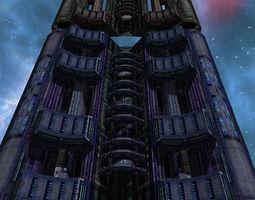 Sci-Fi Space levels 3D Model