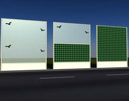 3d checker noise barrier