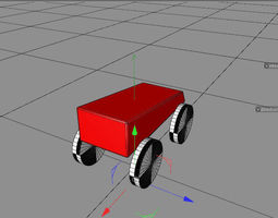toy car standard 3D model animated