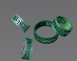 set of rings earrings 3d printable model