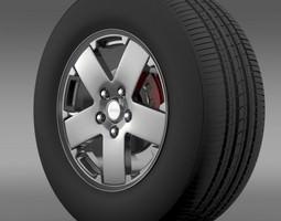 3D model Jeep Wrangle wheel