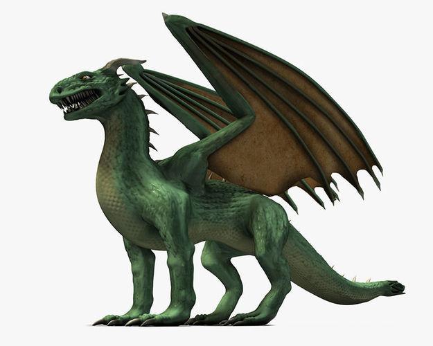 Winged Green Dragon3D model