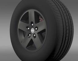 Jeep Wrangler Rubicon black wheel 3D model