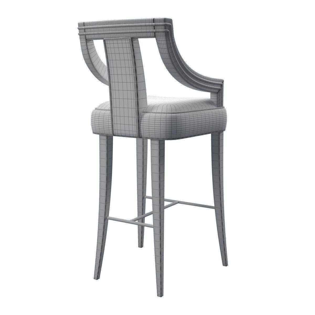 Brabbu Eanda Bar Chair 3d Model Max Obj Fbx Cgtrader Com