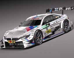 BMW M4 DTM 2015 Race Car 3D Model