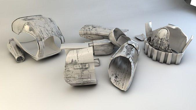 stormtrooper outfit  3d model obj mtl 3ds c4d 1