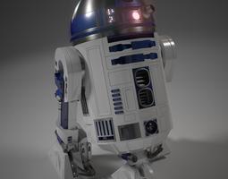Realistic R2-D2 3D Model