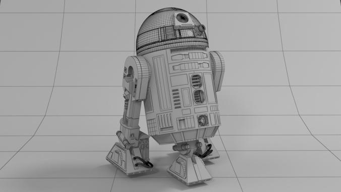 R2d2 360 View Realistic R2-D2...