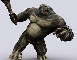 Troll Golem 3D Model