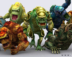 Monster trolls 3D Model