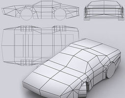Road rush muscle cars 3D Model