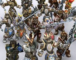 3DRT - Skeletons Warriors Pack 3D Model