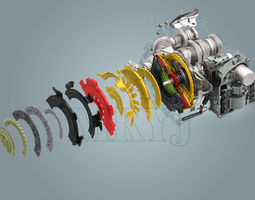 Volkswagen New MAGOTAN gearbox 3D Model