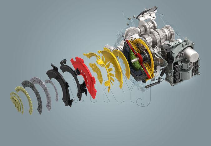 Volkswagen New MAGOTAN gearbox3D model