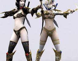 Soulblade Elf rangers 3D Model