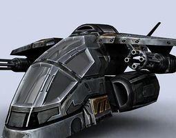 Sci-Fi gunships pack 3D Model