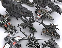 Sci-Fi Airspace pack 3D Model