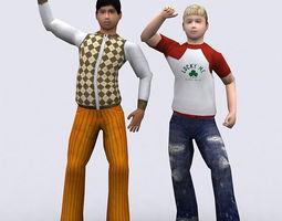 Realpeople kids boys 3D Model