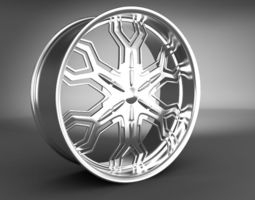 3D automobile Wheel Rim