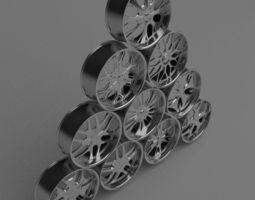 10 Wheel Rims 021-030 3D Model