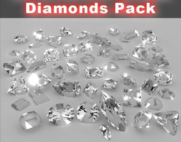 3d 50 diamond collection