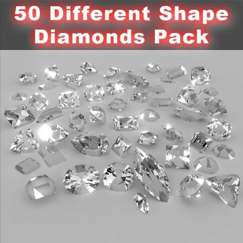 50 Diamond Collection3D model