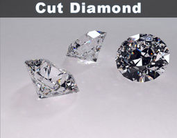 round brilliant cut diamond 3d