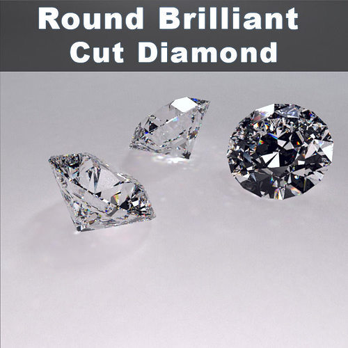 round brilliant cut diamond 3d model max obj mtl 3ds 1