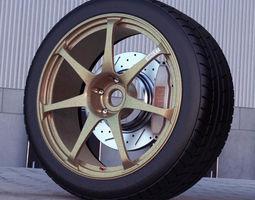 3d model advan t7 automotive -rim only-