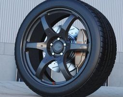 Rays TH3 VR Forged automotive -RIM ONLY- 3D Model