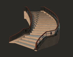 Fantasy Staircase 3D asset