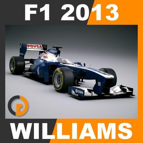 F1 2013 Williams FW35 - Williams F1 Team3D model