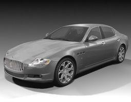 Maserati Quattroporte 2009 3D Model