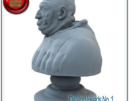 Da Vinci Heads No 1 STL Printable 3D Model