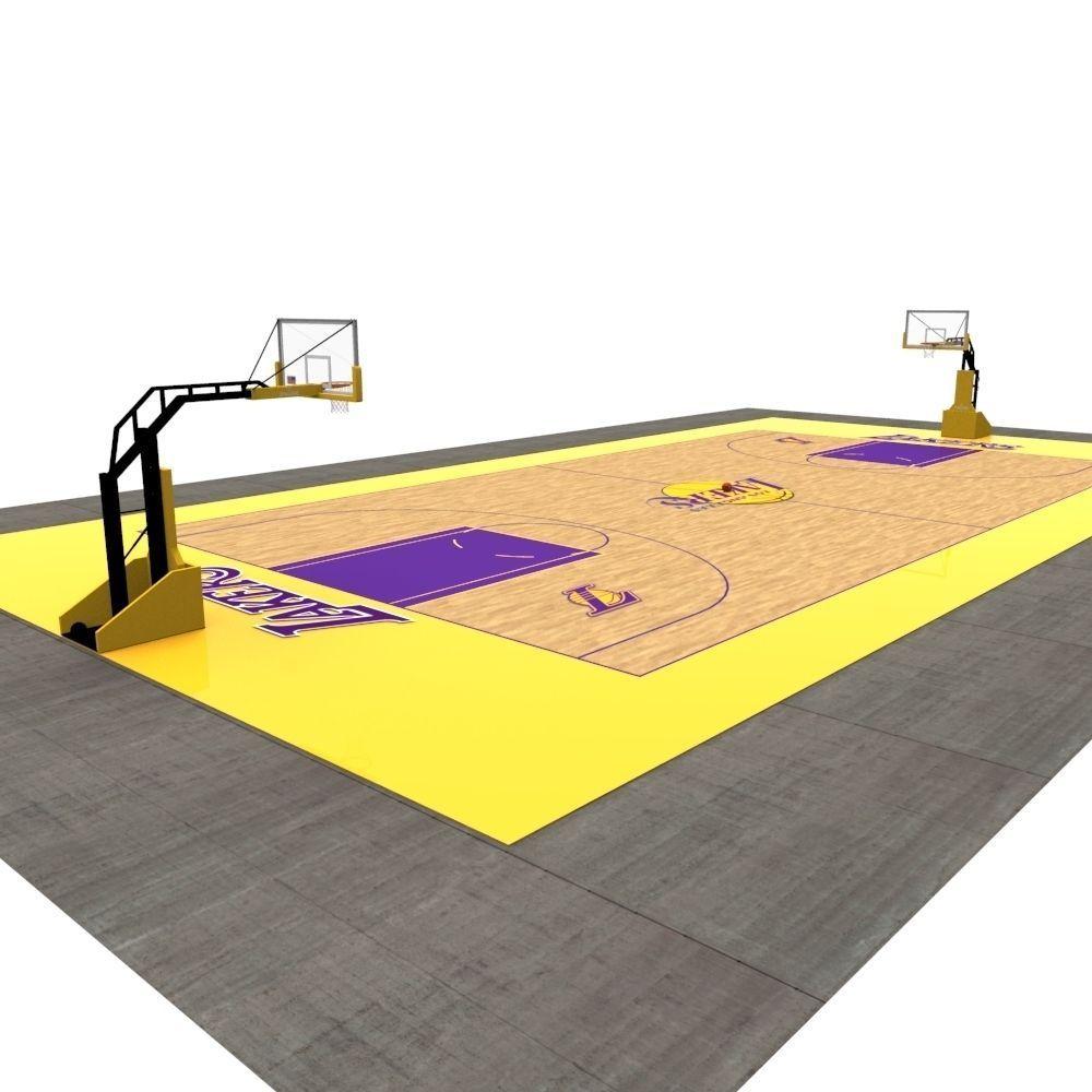 Basketball Court 3d Model Game Ready Fbx