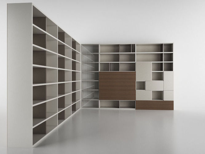 molteni 505 9 with books 3d model c4d. Black Bedroom Furniture Sets. Home Design Ideas
