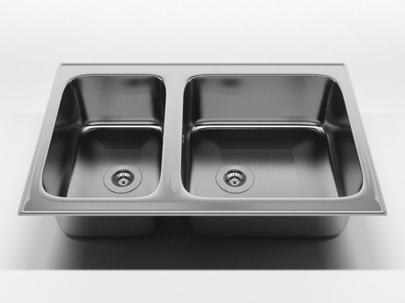 Charmant Kitchen Sink 2 3d Model C4d 1 ...
