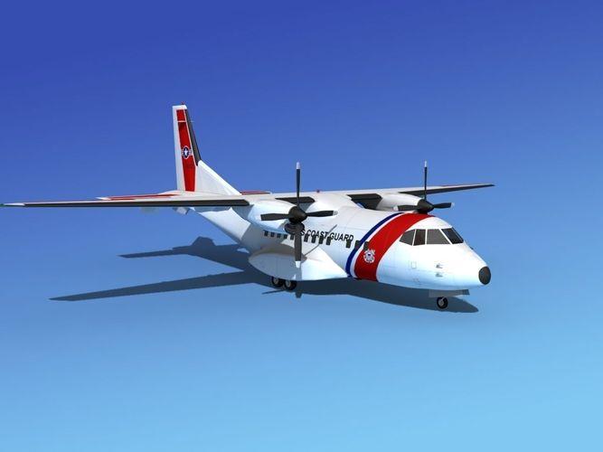 Large Casa Cn Us Coast Guard D Model Ds Dwg Dxf Lwo Lw Lws Obj Dm Skp Max Flt W D Stl A A F D E A